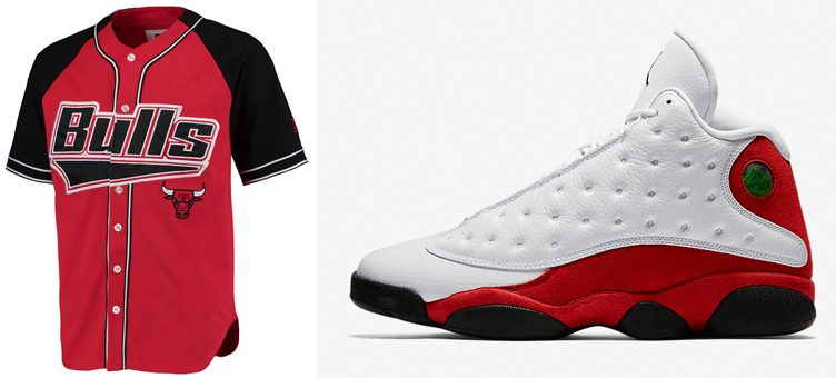"Chicago Bulls Starter Baseball Jersey to Match the Air Jordan 13 ""Chicago"""