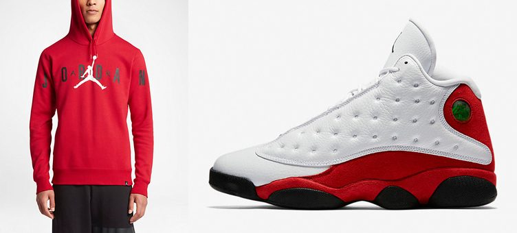 "Air Jordan 13 ""Chicago"" x Jordan Flight Fleece Graphic Pullover Hoodie"
