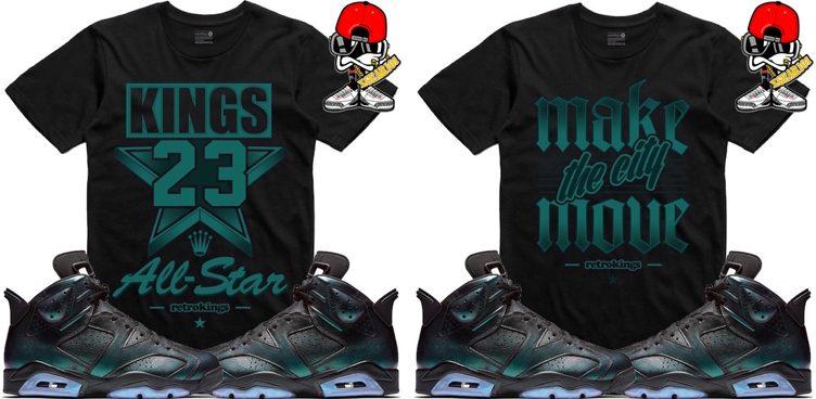 "c6a1a042f8e940 Retro Kings Sneaker Tees to Match the Air Jordan 6 ""All-Star"""
