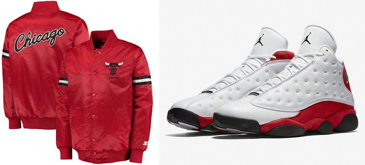 "Chicago Bulls Starter Jacket to Match the Air Jordan 13 ""Chicago"""