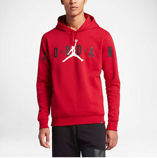 red air jordan hoodies