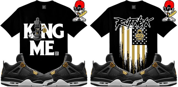 "pretty nice 7f183 4eba5 ... Original Rufnek Sneaker Tees to Match the Air Jordan 4 ""Royalty"" ..."