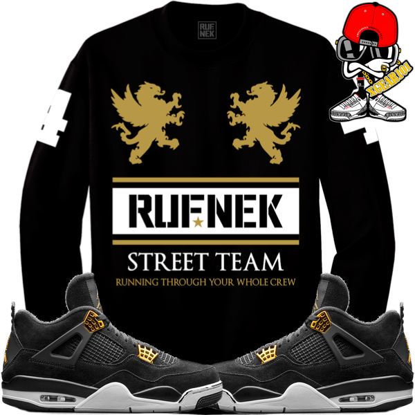 ae56e7e9c2a51 Sneaker Shirts to Match Jordan 4 Royalty by Original RUFNEK ...