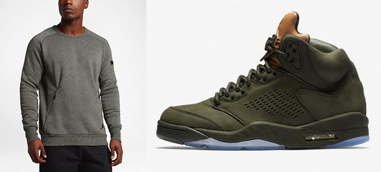"Jordan Icon Fleece Clothing to Match the Air Jordan 5 ""Take Flight"""
