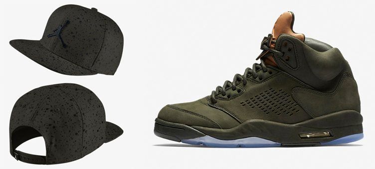 "Air Jordan 5 ""Take Flight"" x Jordan 5 ""Sequoia Speckled"" Snapback Hat"