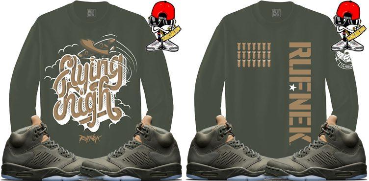 "3167144b4bc683 Original RUFNEK Sneaker Sweatshirts to Match the Air Jordan 5 ""Take Flight"""