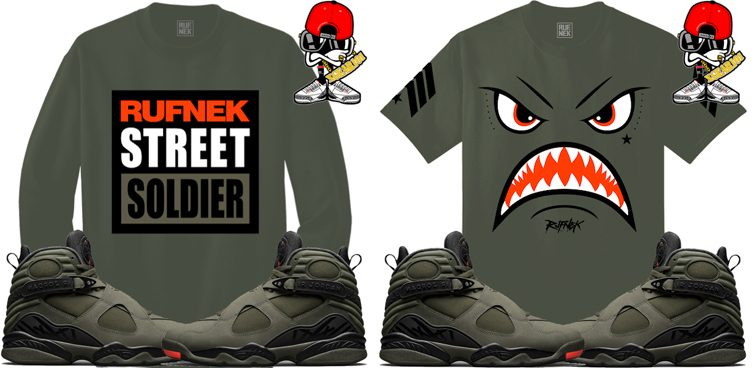 "1ae8712d0a5a65 Original RUFNEK Sneaker Shirts to Match the Air Jordan 8 ""Take Flight"""