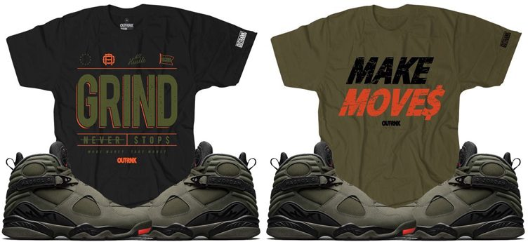 "1b35ad41bbcaab OutRank Sneaker Tees to Match the Air Jordan 8 ""Take Flight"""