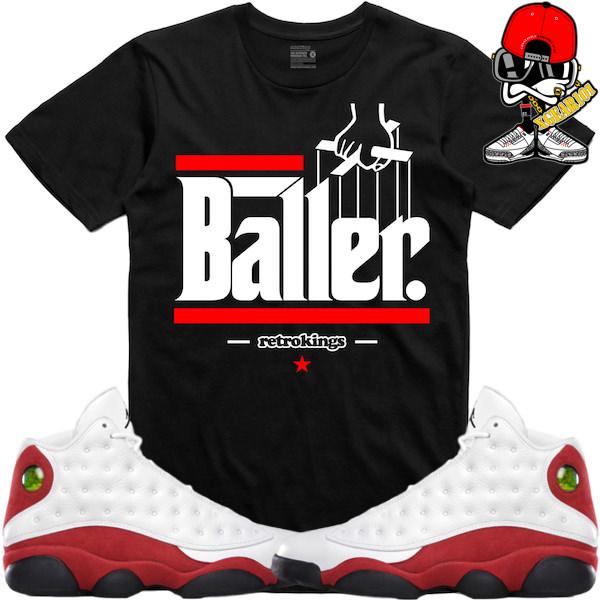 new arrival 56a50 22c5e sneaker tees Jordan retro 13 cherry chicago