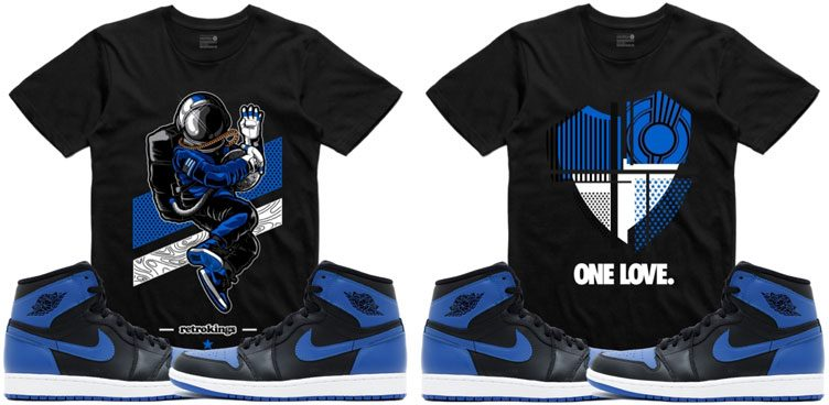 "Retro Kings Sneaker Tees to Match the Air Jordan 1 Retro ""Royal"""
