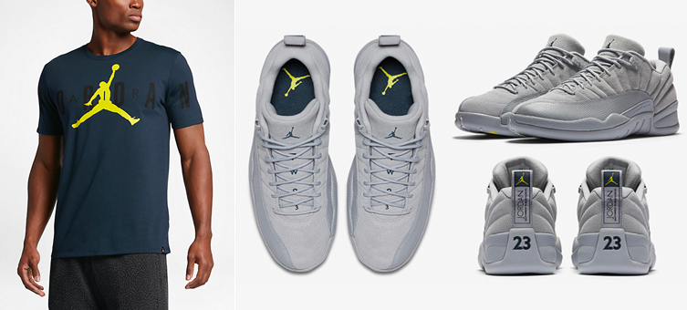 huge selection of e0179 4ed65 air-jordan-12-low-grey-navy-shirt