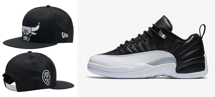 air-jordan-12-low-playoff-bulls-new-era-hat