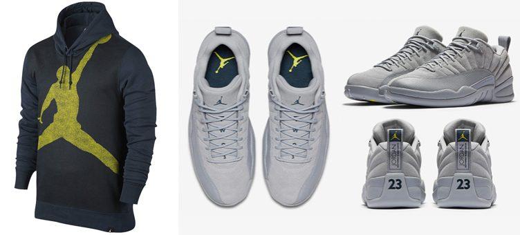 Gris Air Jordan 12 Vêtements Bas