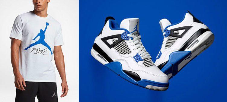 """Air Jordan 4 """"Motorsport"""" x Jordan Flight T-Shirt"""
