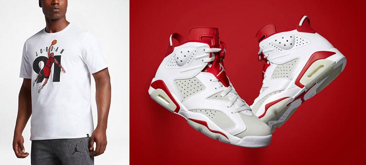 5d0f33c9c338 Air Jordan 6 Alternate Sneaker Tee