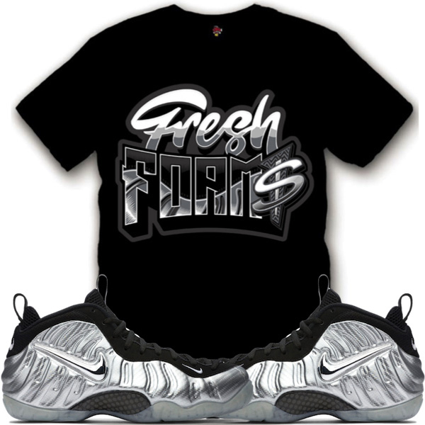 online retailer 0fa3c c81ef foamposite silver surfer t shirts match sneaker tees