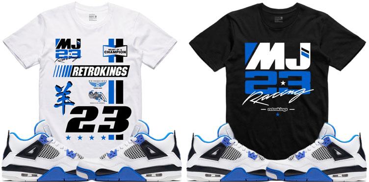 c2978e5bf470 Jordan 4 Motorsport Sneaker Tees by Retro Kings