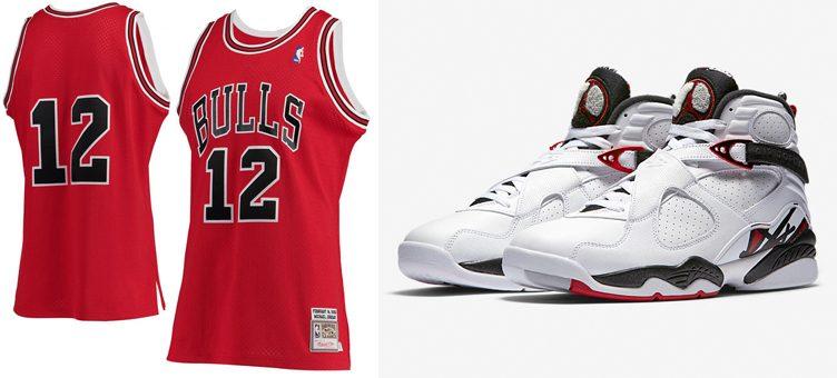 "Air Jordan 8 ""Alternate"" x Chicago Bulls Michael Jordan Mitchell & Ness #12 Jersey"