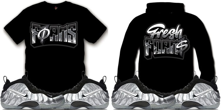 """1945f9fb12dfa Sneaker Tees and Sweatshirts to Match the Nike Air Foamposite Pro """"Silver  Surfer"""""""