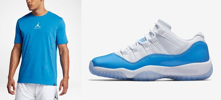 air-jordan-11-low-unc-dri-fit-shirt