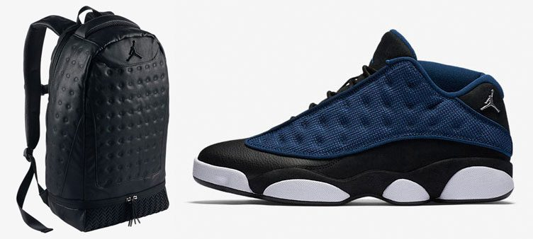 "Air Jordan 13 Low ""Brave Blue"" x Jordan Retro 13 Backpack"