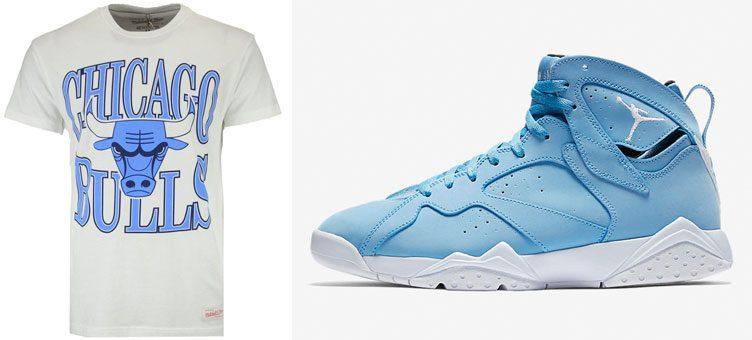"Air Jordan 7 ""Pantone"" x Mitchell & Ness Chicago Bulls Logo T-Shirt"