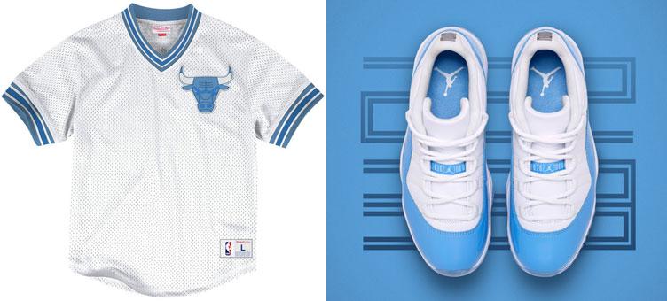 buy online ef010 d73ef Jordan 11 Low UNC Chicago Bulls Mesh Top | SneakerFits.com