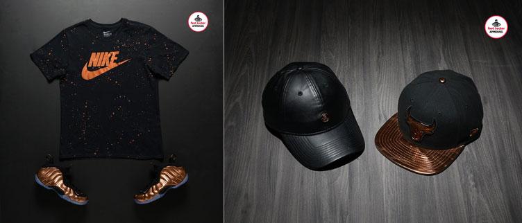 Nike Air Foamposite One Copper Apparel Hooks  81b722751ef