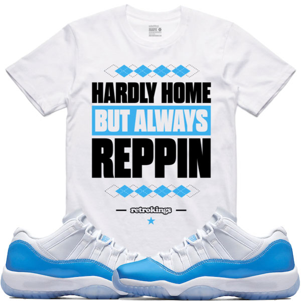 Air jordan 11 low unc sneaker match shirts for We are jordan unc shirt