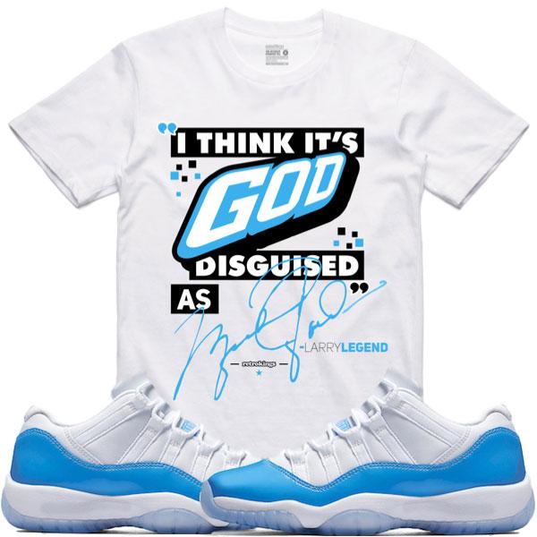 Air Jordan 11 Low UNC Sneaker Match Shirts   SneakerFits.com