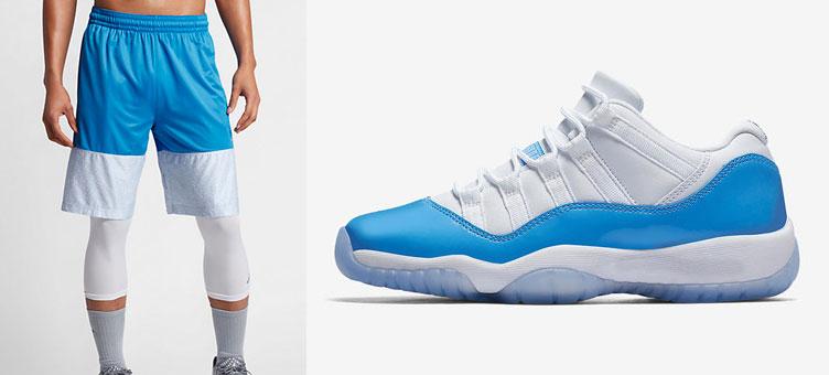 6c2ccd587ee9 Air Jordan 11 Low University Blue Shorts