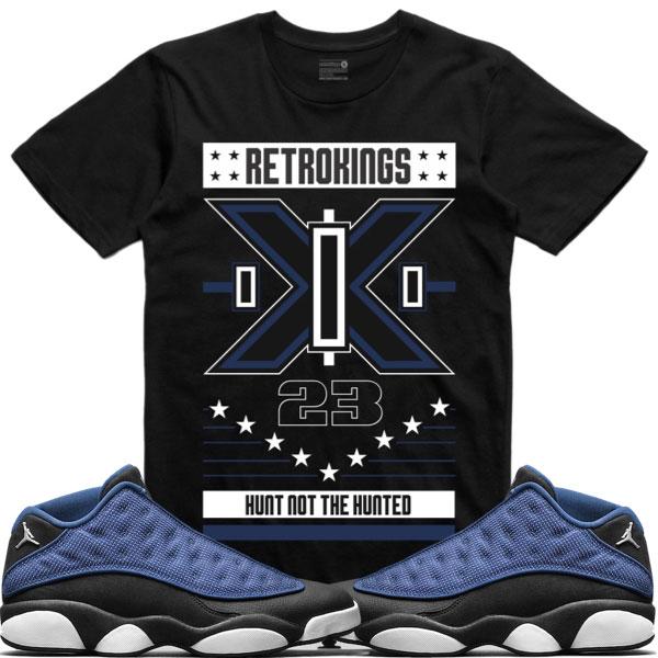 4a415f00eb3 Jordan 13 Low Brave Blue Sneaker Tees by Retro Kings | SneakerFits.com
