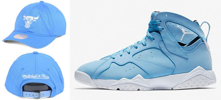 "Air Jordan 7 ""Pantone"" x Mitchell & Ness Chicago Bulls NBA Powder Blue Dad Hat"