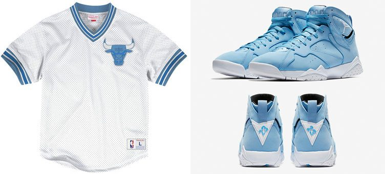 "Air Jordan 7 ""Pantone"" x Mitchell & Ness Chicago Bulls NBA Mesh Jersey Top"