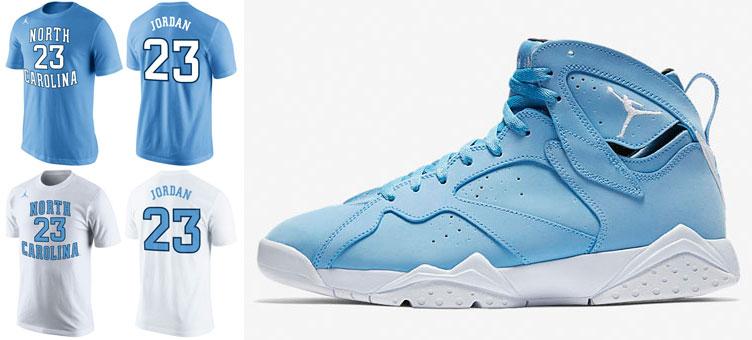 new concept 33b2b 830f6 Jordan 7 Pantone Blue Michael Jordan Shirt | SneakerFits.com