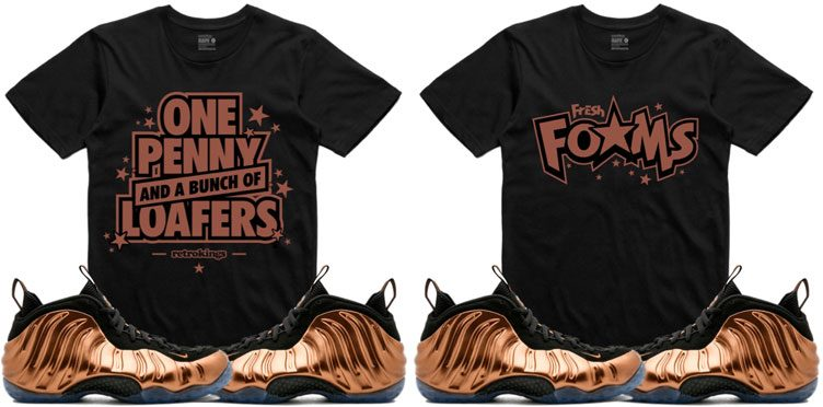 "751177995b728 ... Retro Kings Sneaker Tees to Match the Nike Air Foamposite One ""Metallic  Copper"" ..."