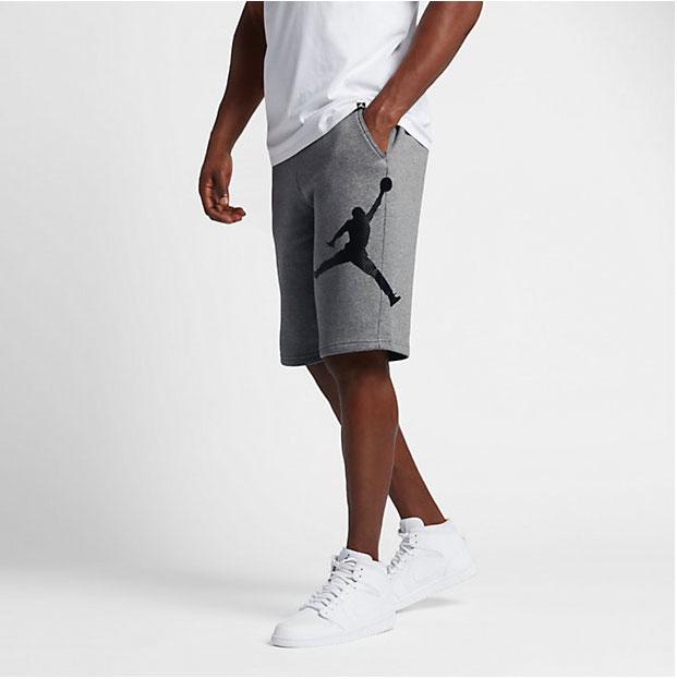 air jordan 1 low on feet shorts