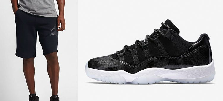 "Air Jordan 11 Low ""Barons"" x Jordan 11 Legacy Shorts"
