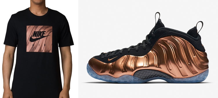 quality design c2ea8 66c19 Nike Air Foamposite One Copper Sneaker Tee | SneakerFits.com