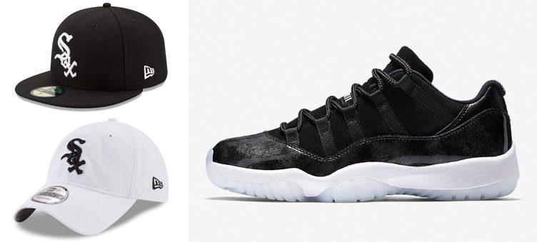 jordan-11-low-barons-chicago-white-sox-hats