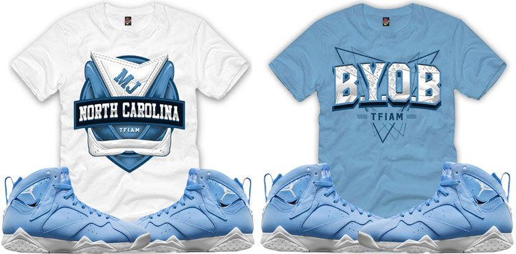 "0d43c572a7b72d TFIAM (The Fresh I Am) Sneaker Tees to Match the Air Jordan 7 ""Pantone"""