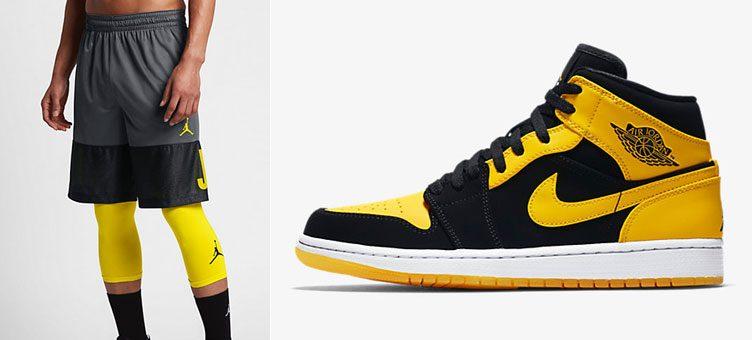 "65f06bed7df Air Jordan 1 Mid ""New Love"" x Air Jordan Blockout Basketball Shorts"