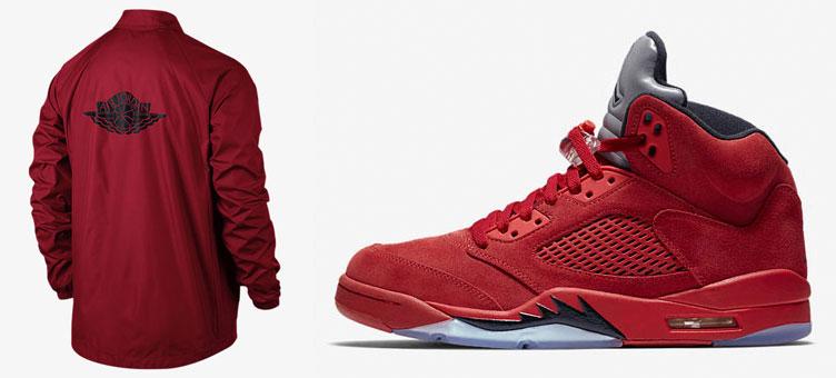 air-jordan-5-red-suede-jacket