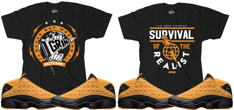 "64206979188611 OutRank Sneaker Shirts to Match the Air Jordan 13 Low ""Chutney"""
