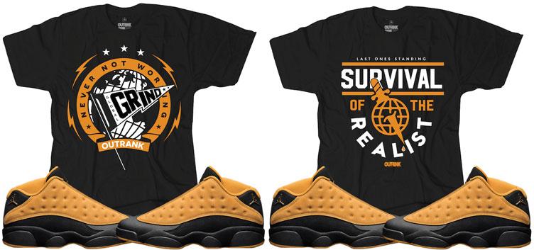 2183aff6161662 Jordan 13 Chutney Sneaker Match Shirts by OutRank