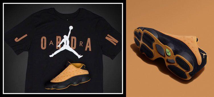 """7b2a372c0bc Air Jordan 13 Low """"Chutney"""" x Jordan Stretch T-Shirt"""