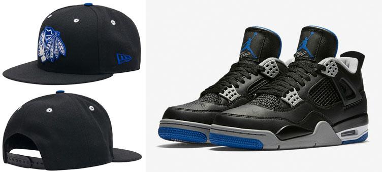 0c8731ba07cde0 jordan-4-alternate-motorsport-chicago-blackhawks-hat