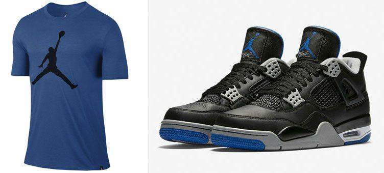 "Air Jordan 4 ""Alternate Motorsport"" x Jordan The Iconic Jumpman T-Shirt"
