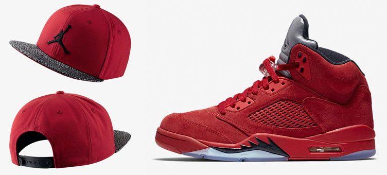"Air Jordan 5 ""Red Suede"" x Jordan Elephant Print Snapback Hat"