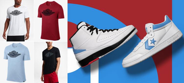73d383177cc Air Jordan x Converse Pack Wings Shirts
